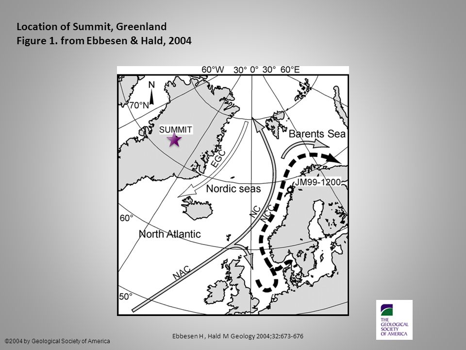 Location of Summit, Greenland Figure 1.
