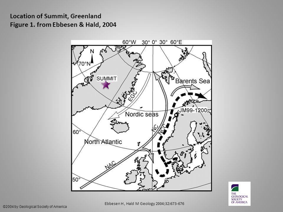 Location of Summit, Greenland Figure 1.