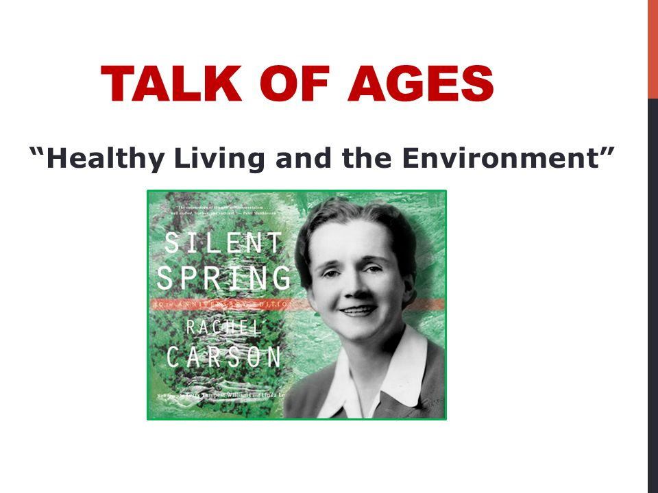 """TALK OF AGES """"Healthy Living and the Environment"""""""