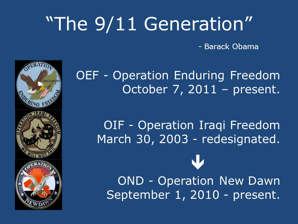 OEF / OIF / OND Over 5 million American men and women served in the ranks of the US armed forces since 9/11/2001.