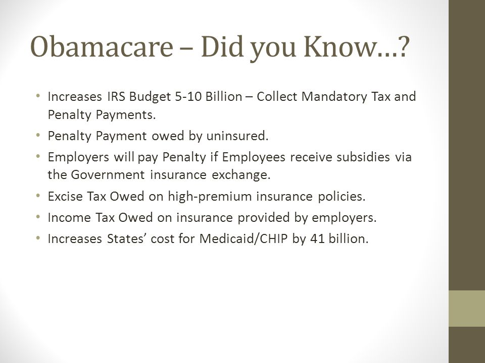 Obamacare – Did you Know….
