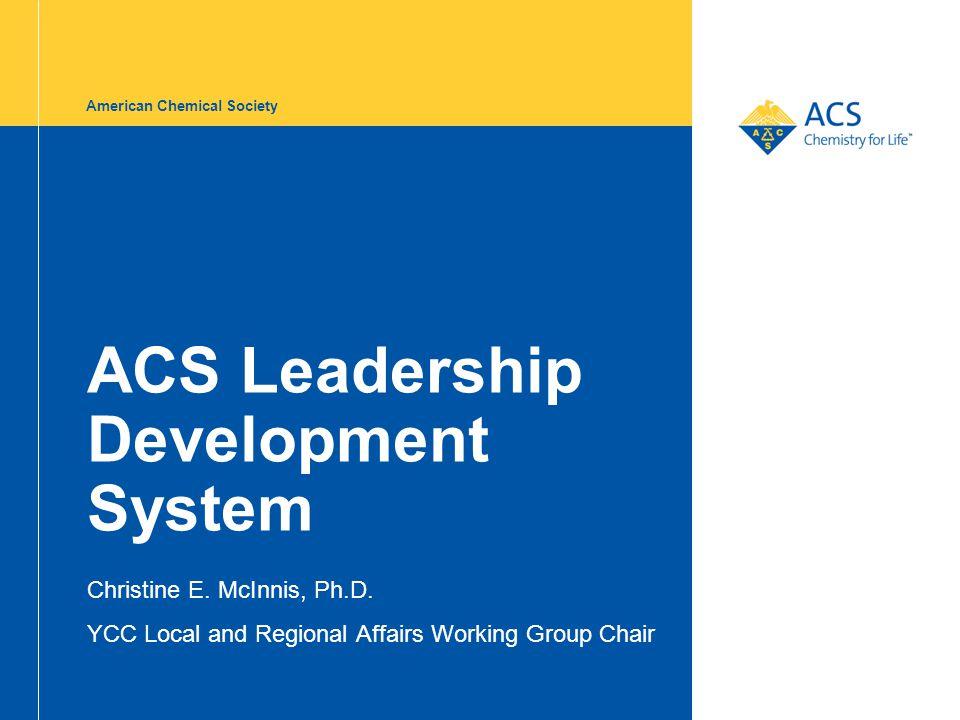ACS Leadership Development System Christine E. McInnis, Ph.D. YCC Local and Regional Affairs Working Group Chair