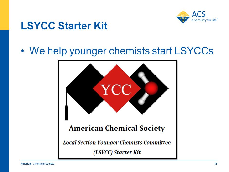LSYCC Starter Kit We help younger chemists start LSYCCs American Chemical Society 38