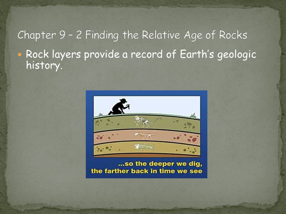 Rock layers provide a record of Earth's geologic history.