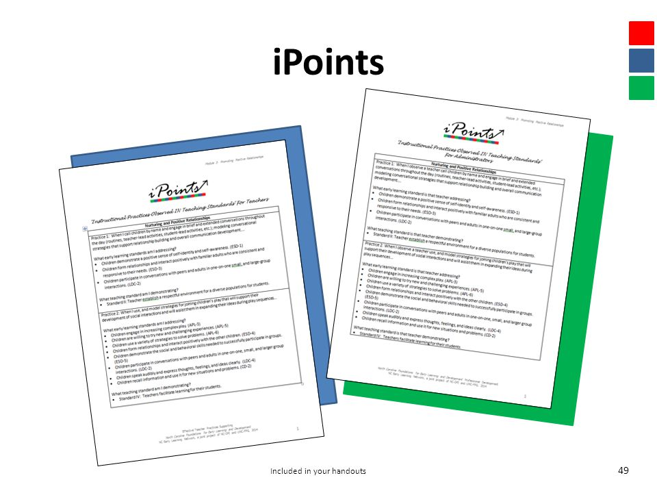iPoints 49 Included in your handouts