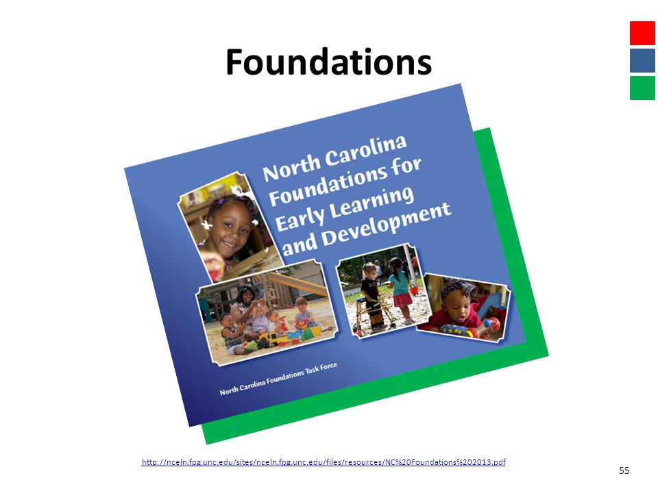 Foundations 55 http://nceln.fpg.unc.edu/sites/nceln.fpg.unc.edu/files/resources/NC%20Foundations%202013.pdf
