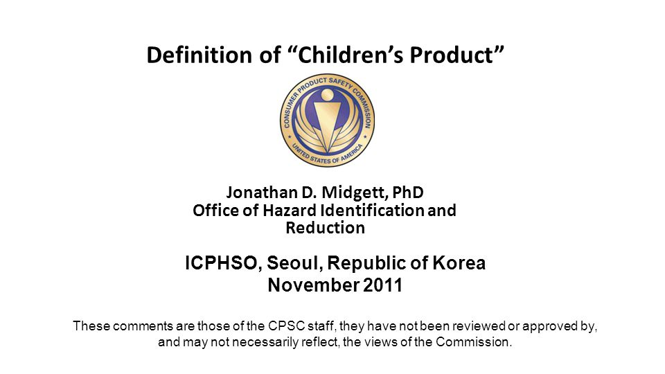 Definition of Children's Product Jonathan D.