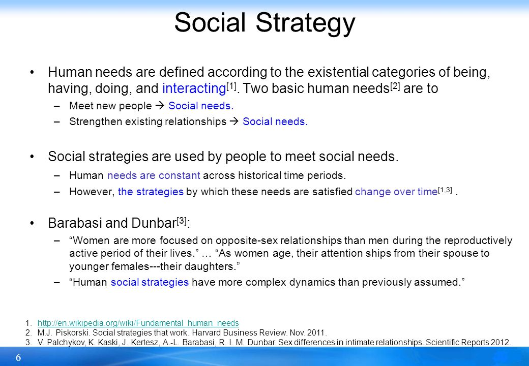 7 Social Strategy We study demographic-based social strategy with respect to the micro-level network structures.