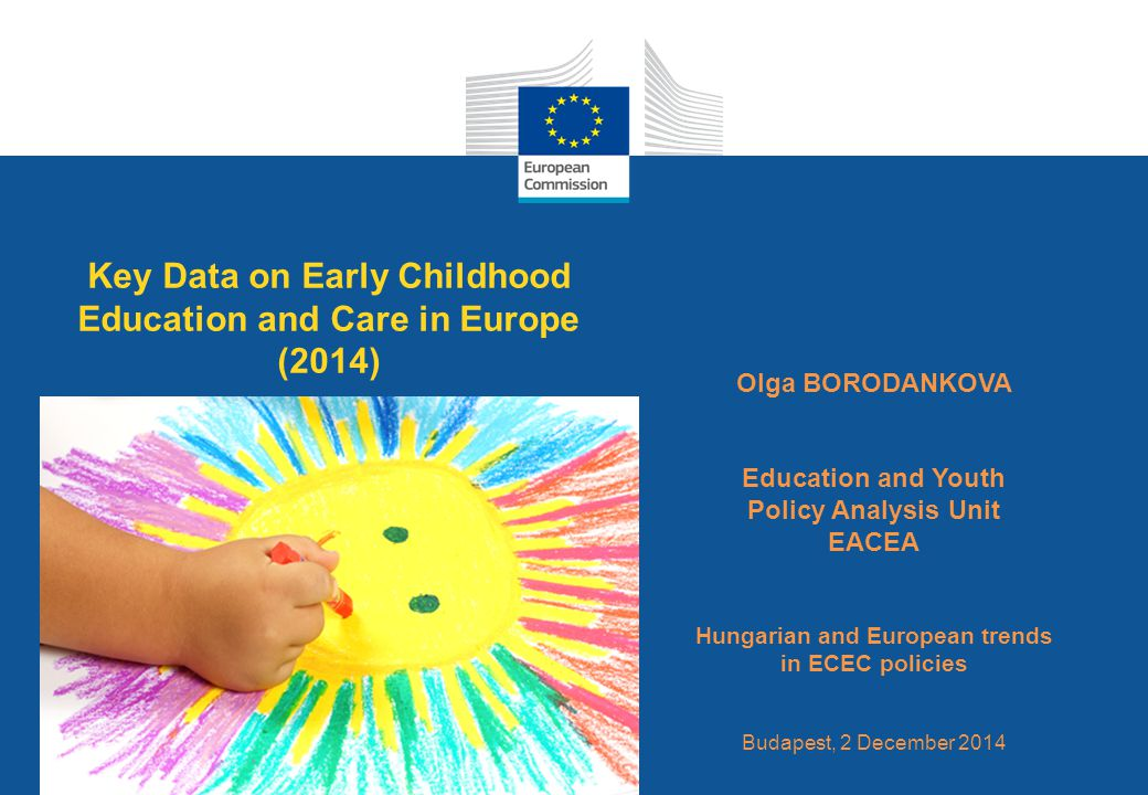 Date: in 12 pts Key Data on Early Childhood Education and Care in Europe (2014) Olga BORODANKOVA Education and Youth Policy Analysis Unit EACEA Hungarian and European trends in ECEC policies Budapest, 2 December 2014