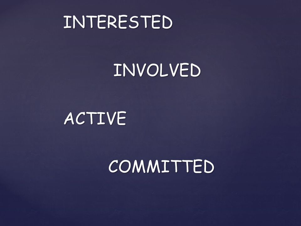 INTERESTED INVOLVED INVOLVEDACTIVE COMMITTED COMMITTED
