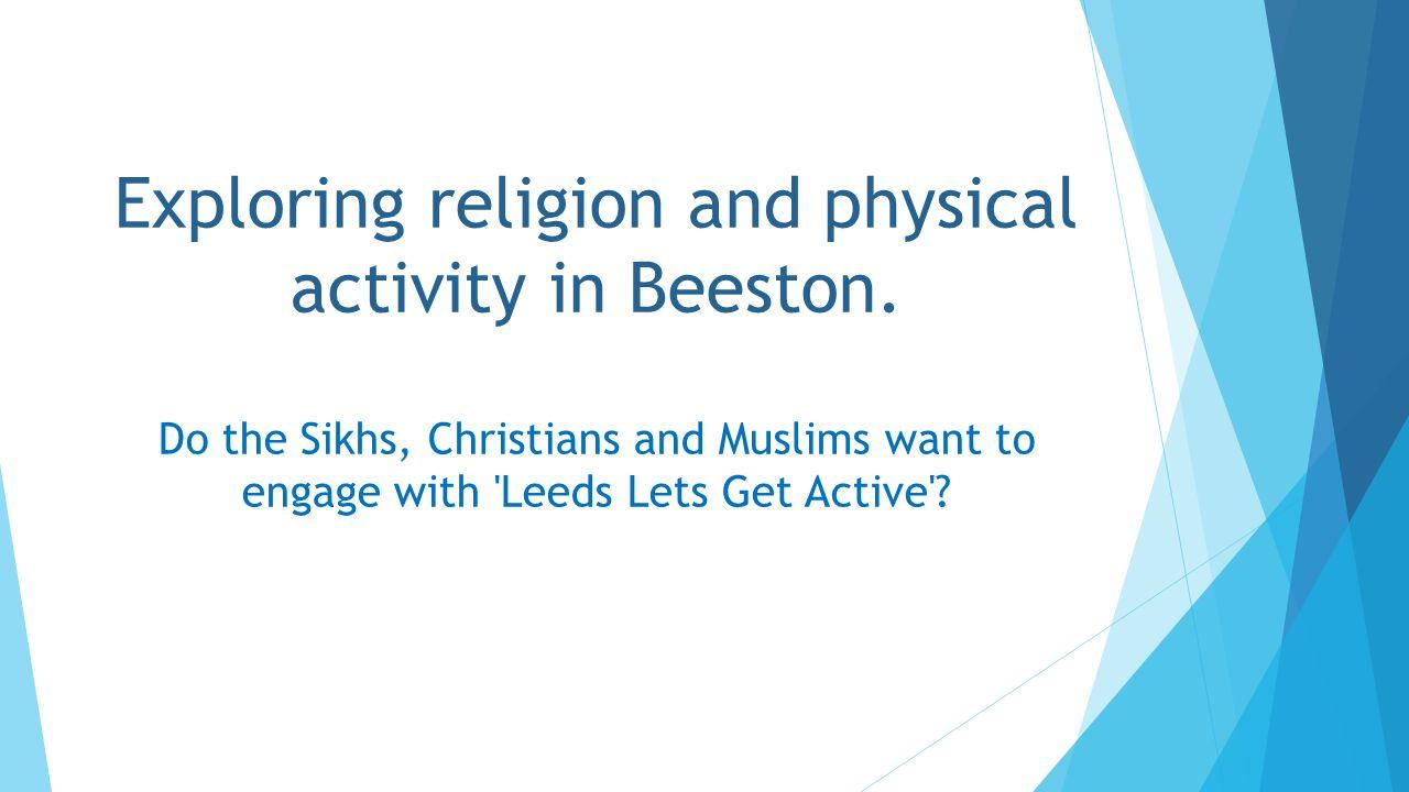 This presentation will explore… Attitudes towards physical activity.