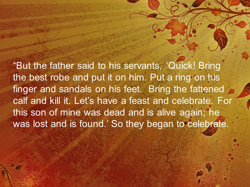 What does the Parable tell us about us.Both sons hate the Father.