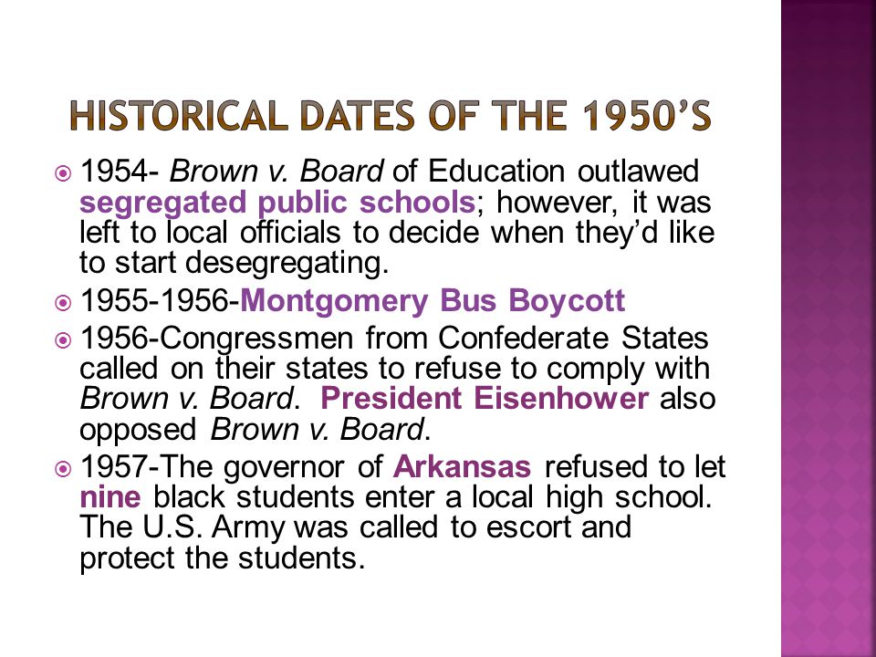 The governor closed high schools for the following year so they wouldn't have to integrate.
