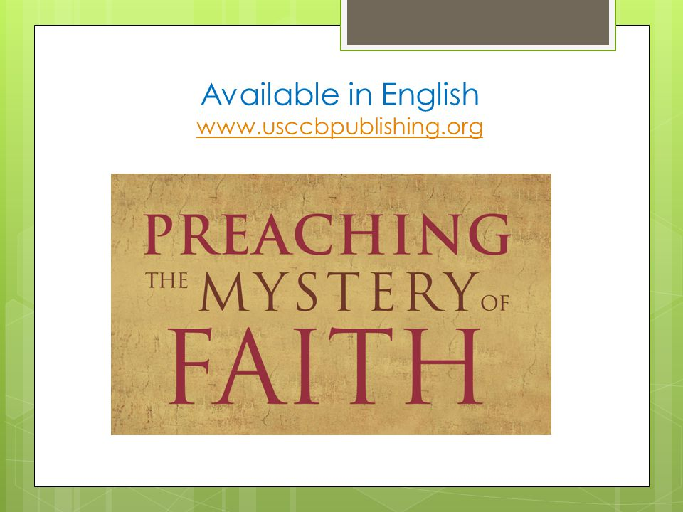Available in English www.usccbpublishing.org www.usccbpublishing.org