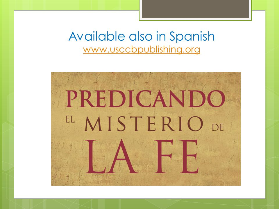 Available also in Spanish www.usccbpublishing.org www.usccbpublishing.org