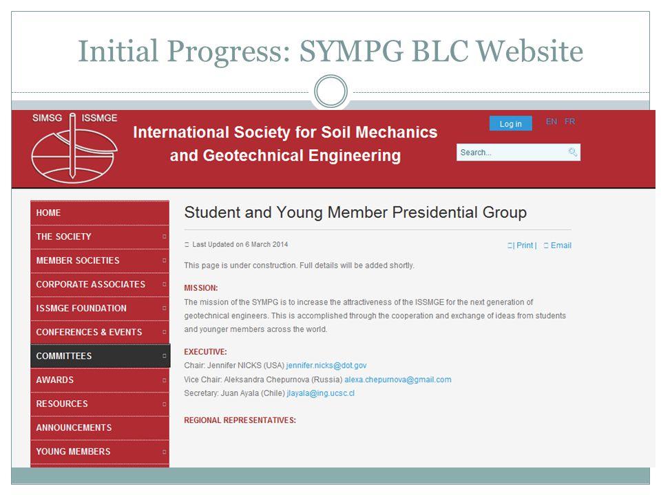 Initial Progress: SYMPG BLC Website