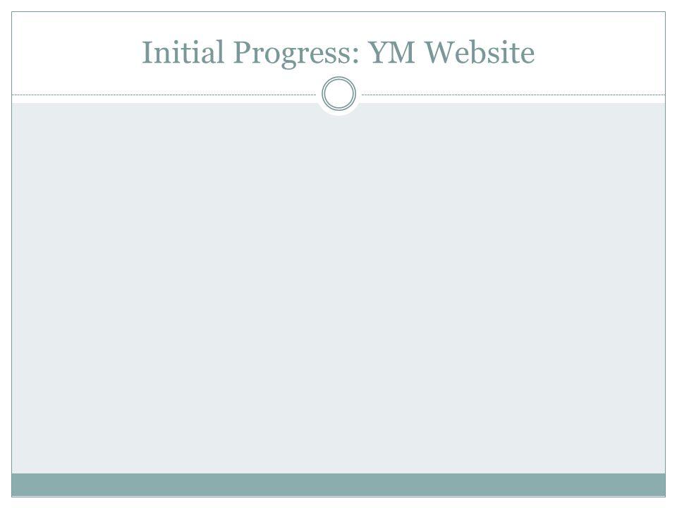 Initial Progress: YM Website