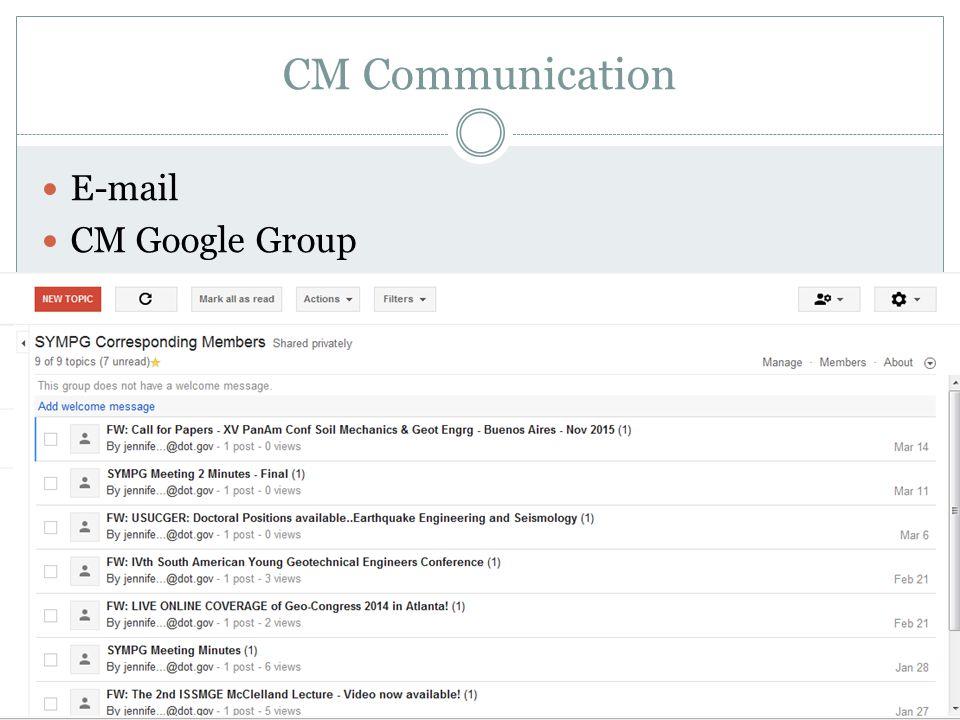 CM Communication E-mail CM Google Group