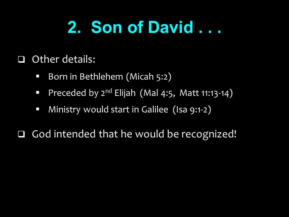 2. Son of David...