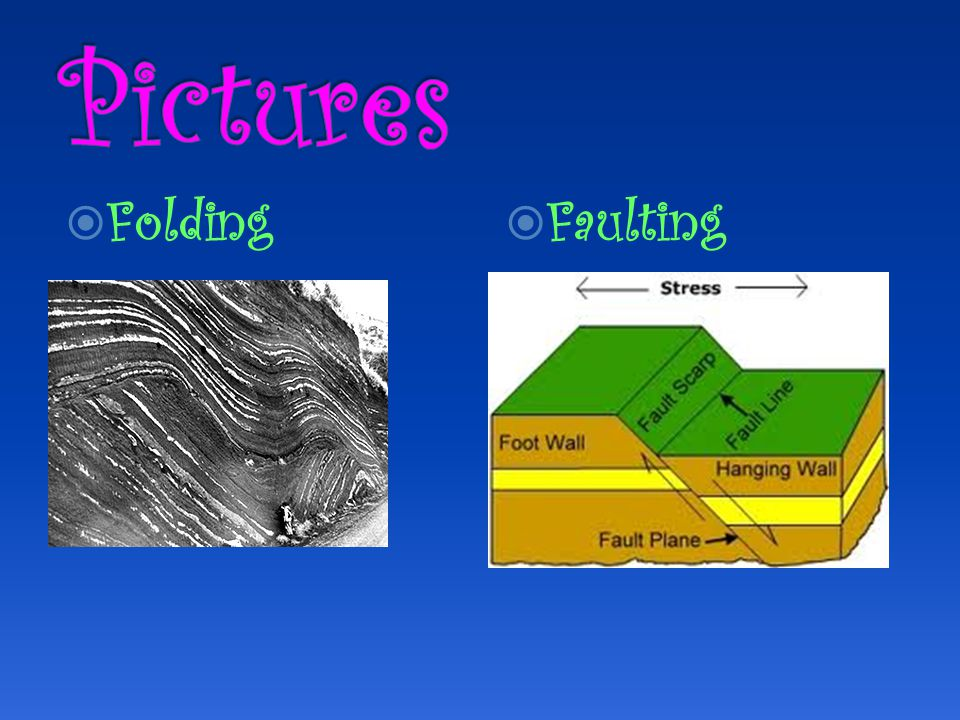  Folding  Faulting