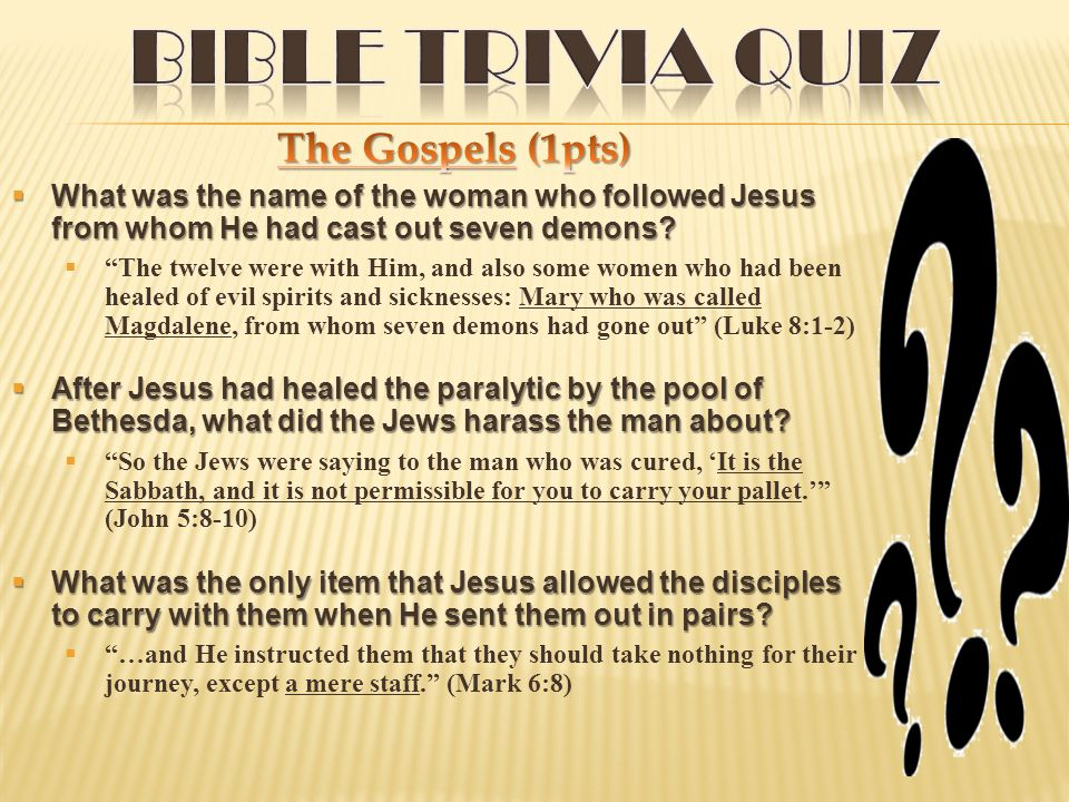  What was the name of the woman who followed Jesus from whom He had cast out seven demons.