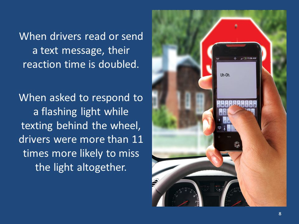 How long does texting take your eyes off the road? 9