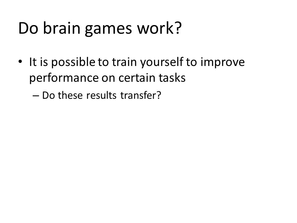 Do brain games work.