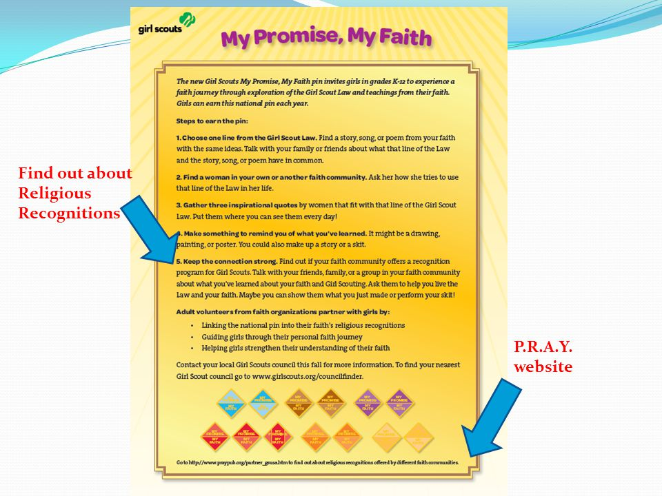 Find out about Religious Recognitions P.R.A.Y. website