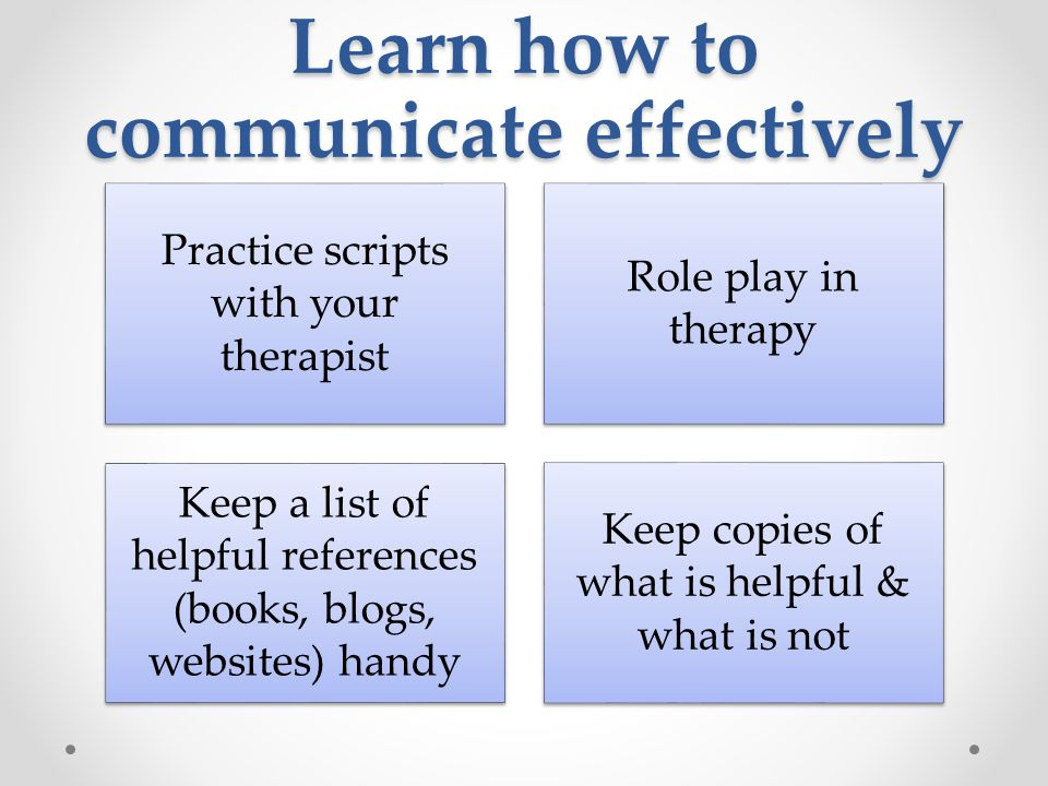 Learn how to communicate effectively
