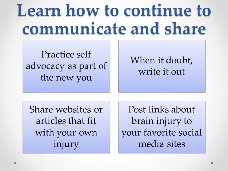 Learn how to continue to communicate and share