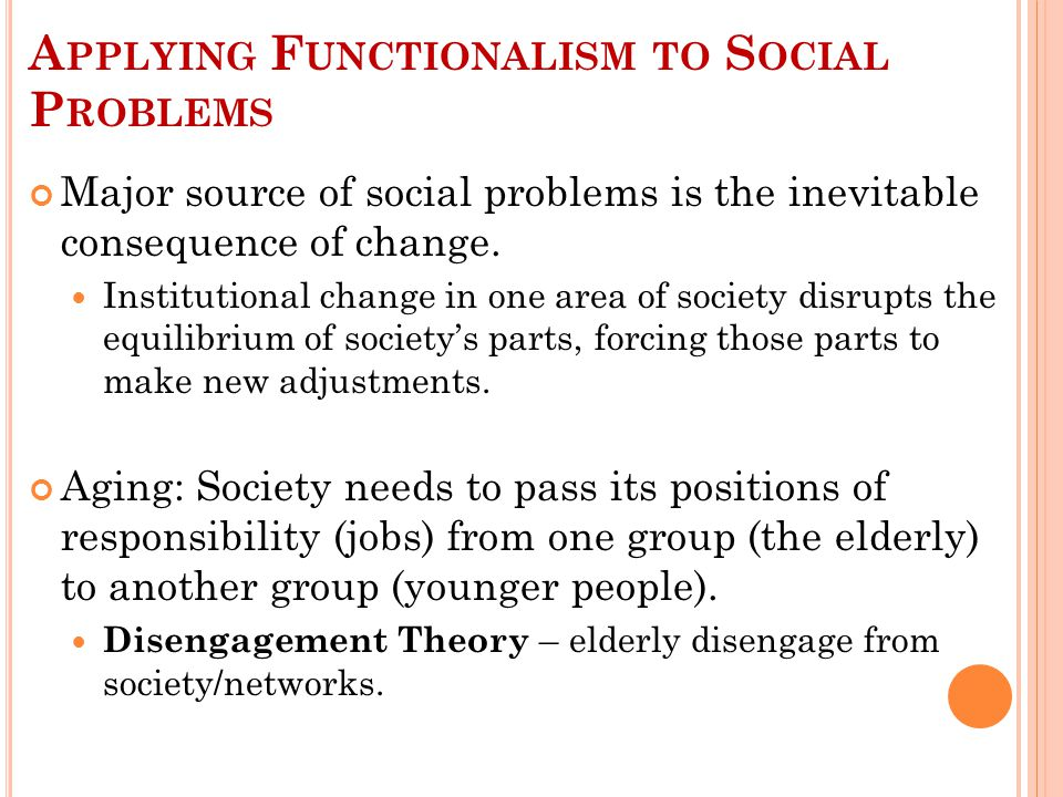 S YMBOLIC I NTERACTIONISM AND S OCIAL P ROBLEMS : A GING Earlier in our history, old age was a personal problem, not a social problem.