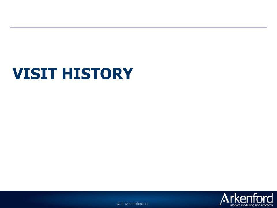 © 2012 Arkenford Ltd VISIT HISTORY
