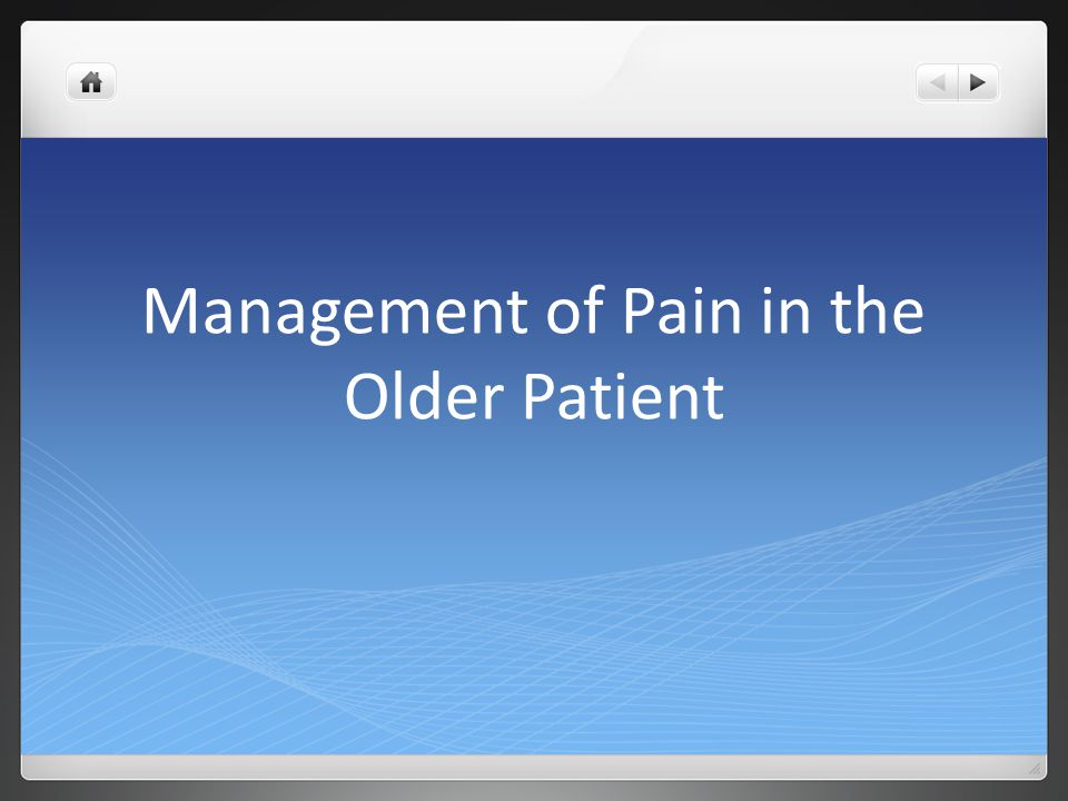 Guideline Recommendations Pharmacologic Management of Persistent Pain in Older Persons American Geriatrics Society Panel on the Pharmacological Management of Persistent Pain in Older Persons