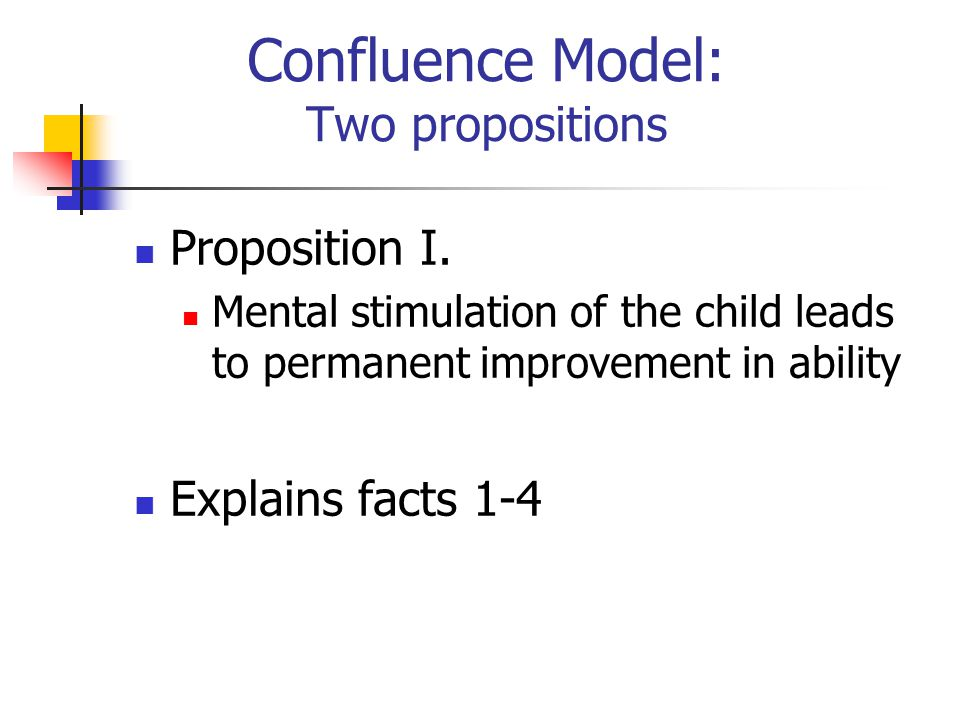 Confluence Model: Two propositions Proposition I.