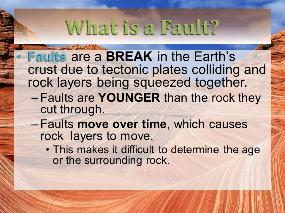 What is a Fault.