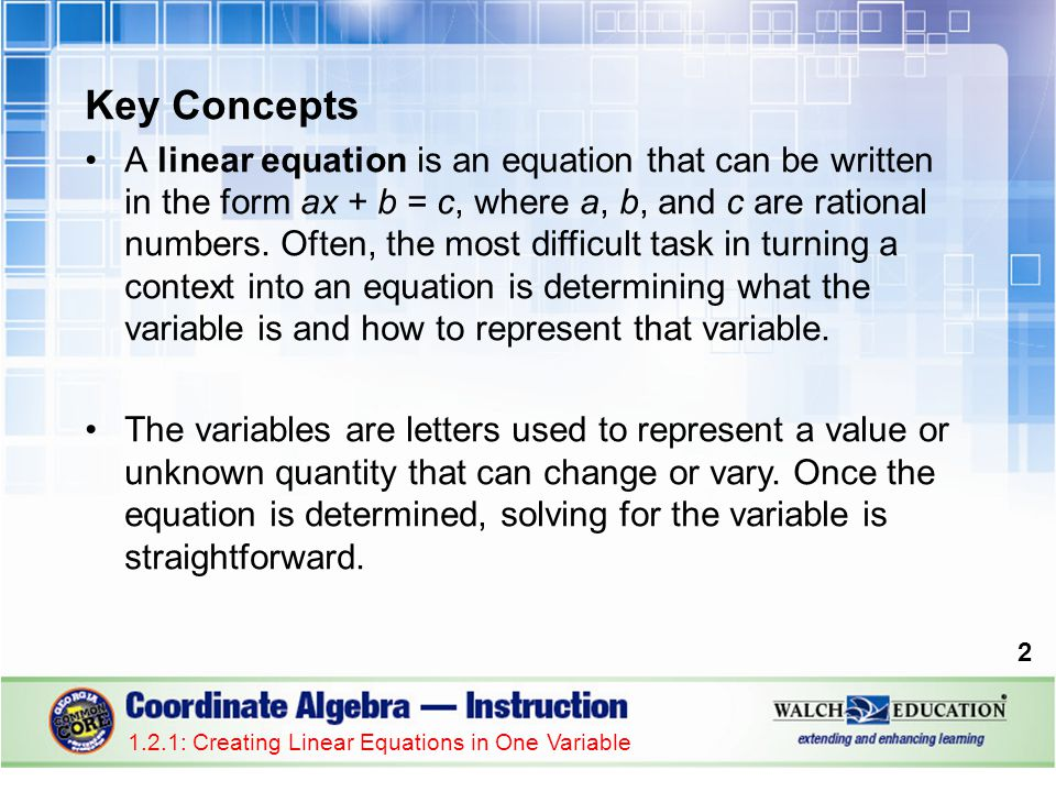 Guided Practice: Example 5, continued 2.Reread the scenario and make a list of the known quantities.
