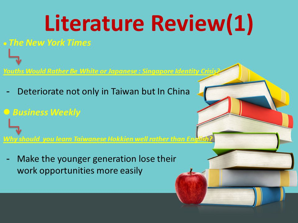 Literature Review(1) Business Weekly Why should you learn Taiwanese Hokkien well rather than English.