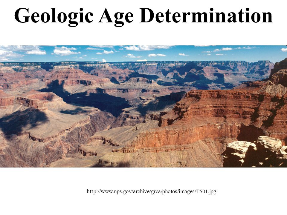 Geologic Age Determination http://www.nps.gov/archive/grca/photos/images/T501.jpg