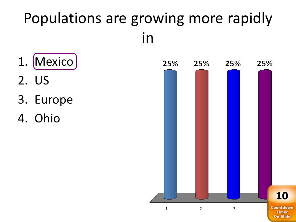 Less-developed countries suffer more from rapid population growth because they are less likely to have the _____ to support the population.