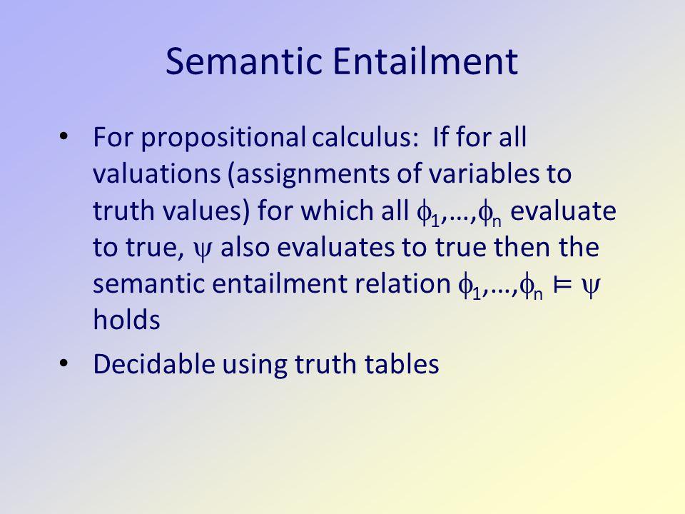 Semantic Entailment