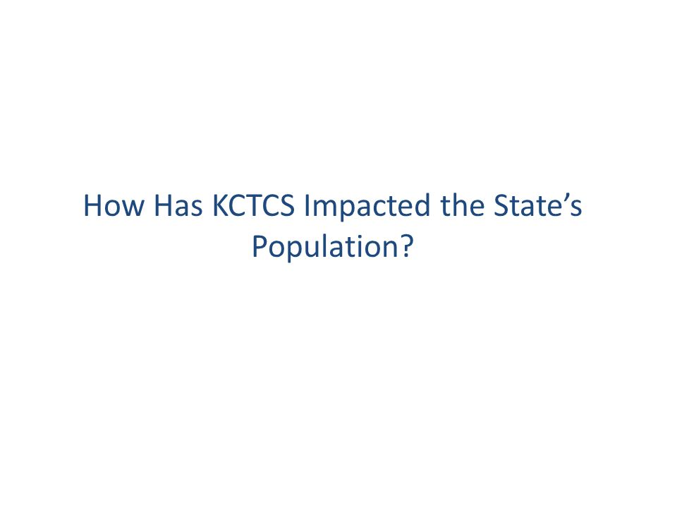 How Has KCTCS Impacted the State's Population