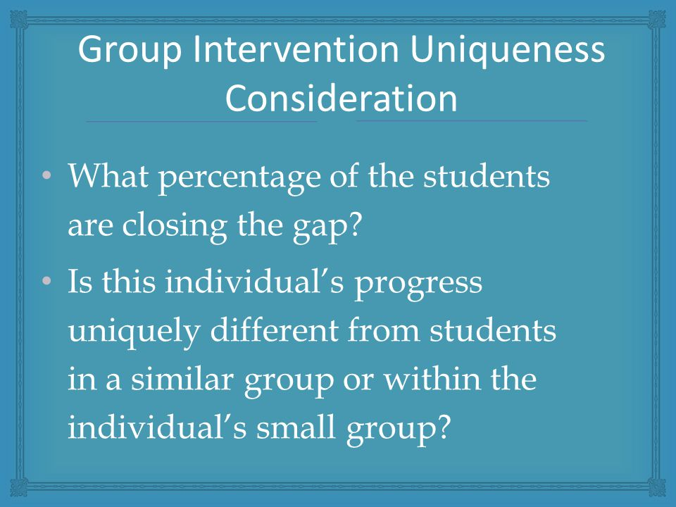 What percentage of the students are closing the gap.