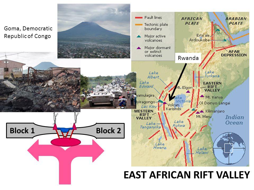 Block 1Block 2 EAST AFRICAN RIFT VALLEY Goma, Democratic Republic of Congo Rwanda