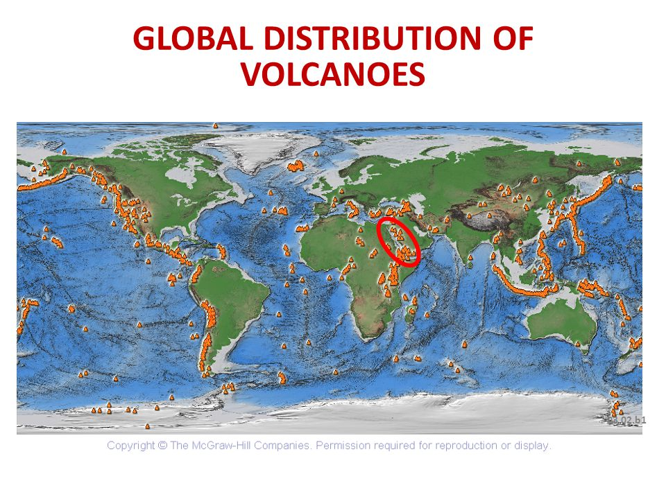 03.02.b1 GLOBAL DISTRIBUTION OF VOLCANOES