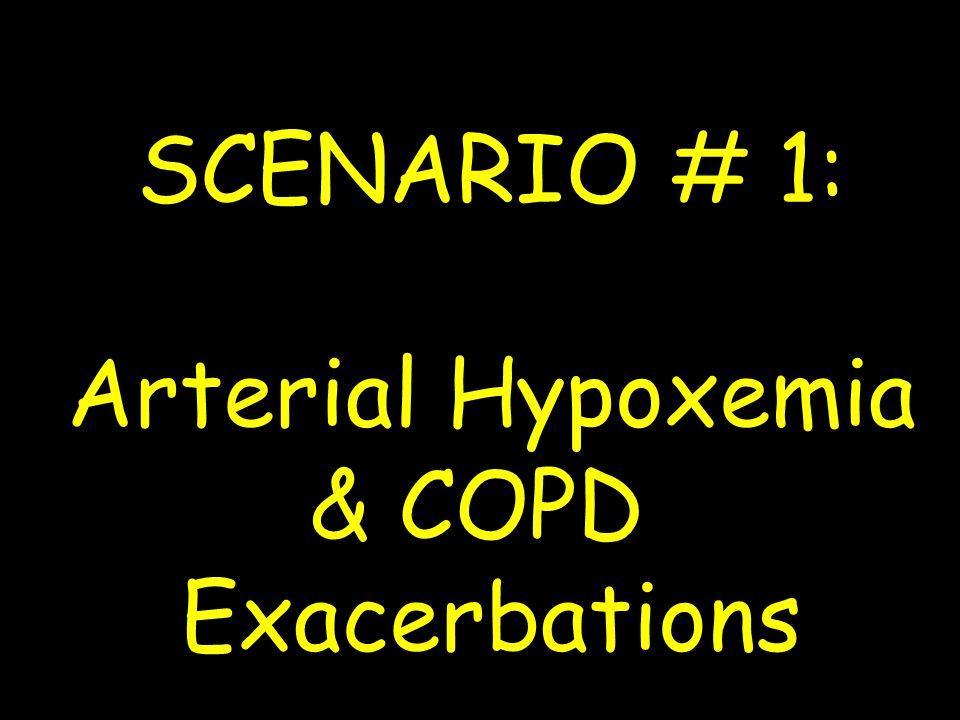 SCENARIO # 1: Arterial Hypoxemia & COPD Exacerbations