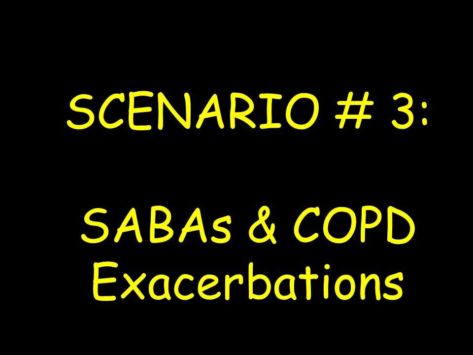 SCENARIO # 3: SABAs & COPD Exacerbations