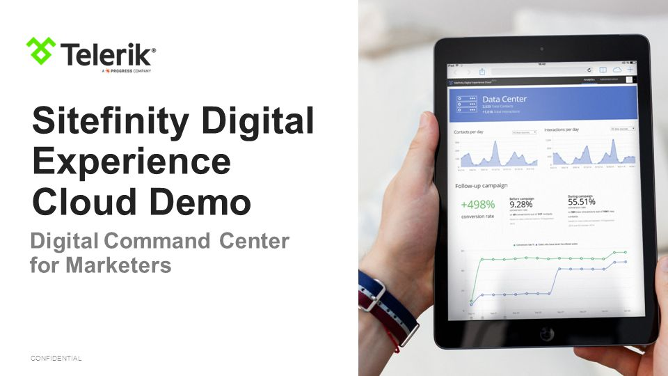 CONFIDENTIAL Sitefinity Digital Experience Cloud Demo Digital Command Center for Marketers