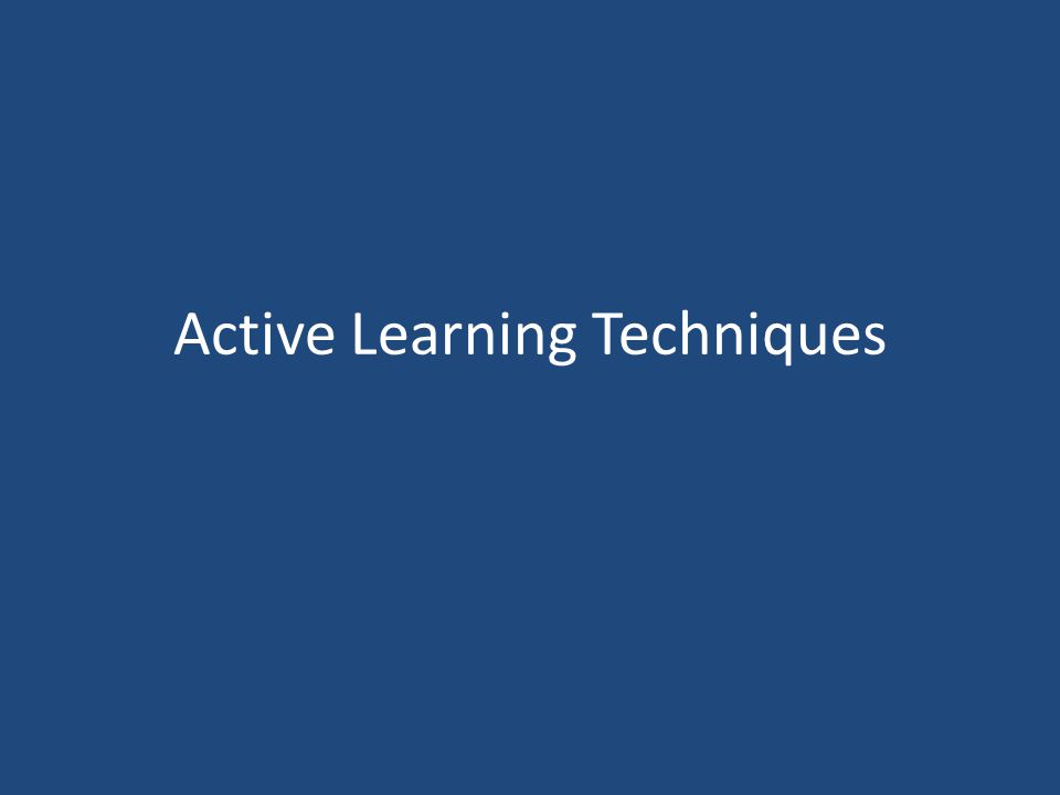 Active Learning Techniques