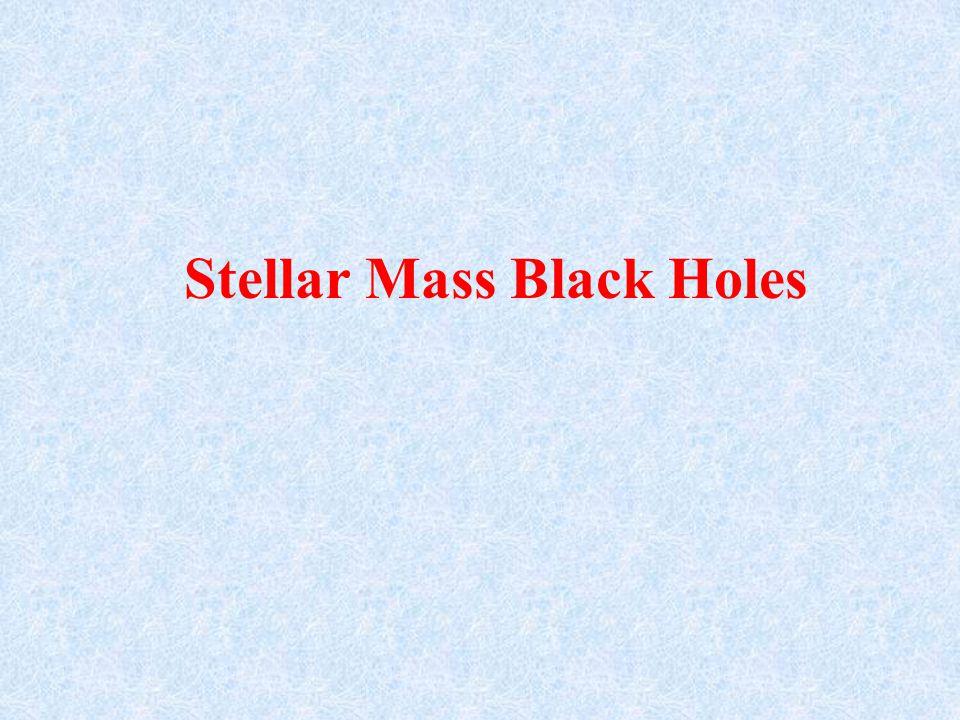 Stellar Mass Black Holes