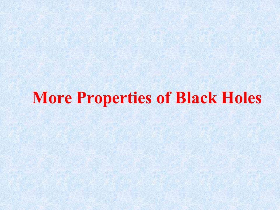 More Properties of Black Holes
